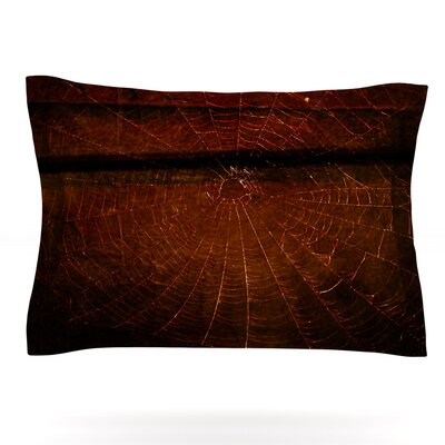 Dark Web by Robin Dickinson Featherweight Pillow Sham Size: King, Fabric: Cotton