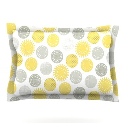 Sunspot by Heidi Jennings Featherweight Pillow Sham Size: King, Fabric: Cotton