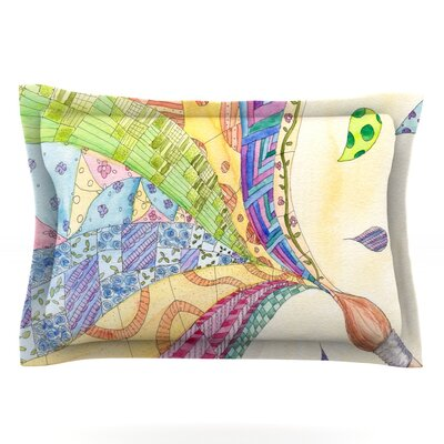 The Painted Quilt by Catherine Holcombe Featherweight Pillow Sham Size: King, Fabric: Cotton