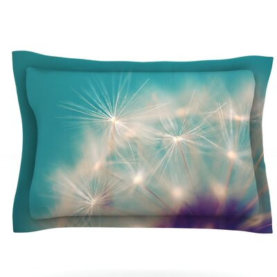 Dandelion Seedhead by Sylvia Cook Featherweight Pillow Sham Size: Queen, Fabric: Cotton