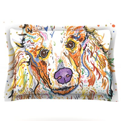 Lily by Rebecca Fischer Featherweight Pillow Sham Size: King, Fabric: Cotton