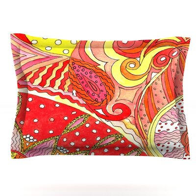 Swirls by Rosie Brown Featherweight Pillow Sham Size: Queen, Fabric: Cotton