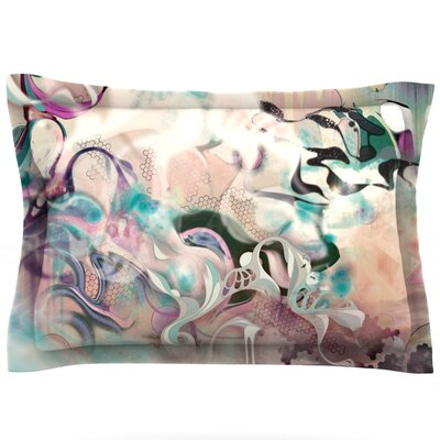 Fluidity by Mat Miller Featherweight Pillow Sham Size: Queen, Fabric: Cotton