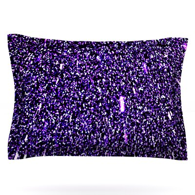 Purple Dots by Maynard Logan Featherweight Pillow Sham Size: Queen, Fabric: Cotton