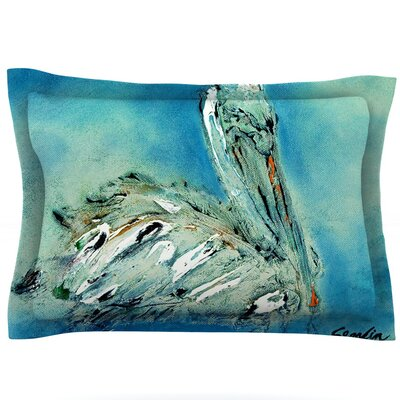 Drifter by Josh Serafin Featherweight Pillow Sham Size: Queen, Fabric: Cotton