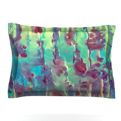 Splash by Rosie Brown Featherweight Pillow Sham Size: King, Fabric: Cotton
