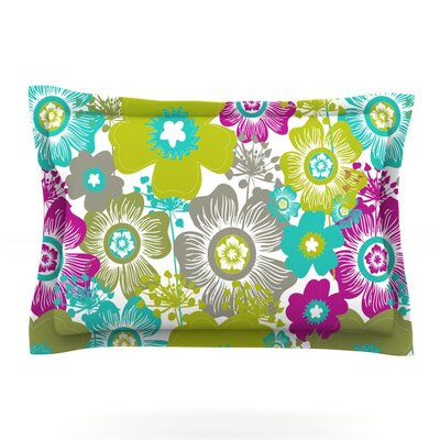 Little Bloom by Nicole Ketchum Featherweight Pillow Sham Size: King, Fabric: Cotton