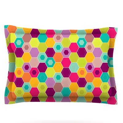 Arabian Bee by Nicole Ketchum Featherweight Pillow Sham Size: Queen, Fabric: Cotton