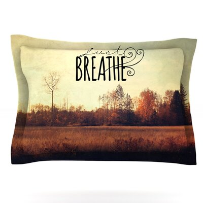Just Breathe by Sylvia Cook Featherweight Pillow Sham Size: King, Fabric: Cotton