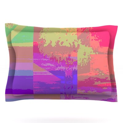 Impermiate Poster by Nina May Featherweight Pillow Sham Size: King, Fabric: Cotton