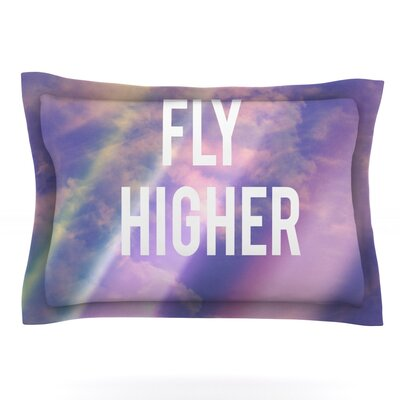 Fly Higher by Rachel Burbee Featherweight Pillow Sham Size: Queen, Fabric: Cotton