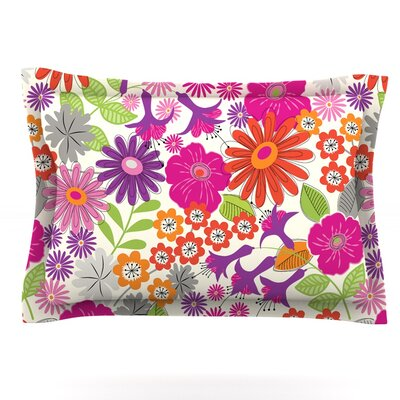 Lula by Jacqueline Milton Woven Pillow Sham Size: Queen, Color: Pink/White