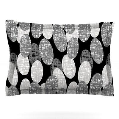 Seeds - Monochrome by Jacqueline Milton Featherweight Pillow Sham Size: Queen, Fabric: Cotton