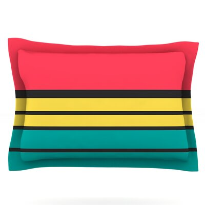 Simple by Danny Ivan Featherweight Pillow Sham Size: King, Fabric: Cotton