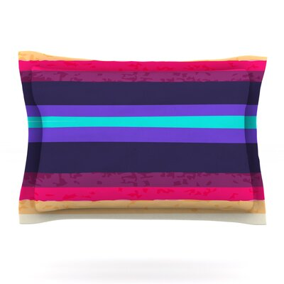 Surf Stripes by Nika Martinez Featherweight Pillow Sham Size: Queen, Fabric: Cotton