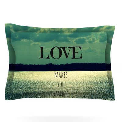 Love Makes You Sparkle by Robin Dickinson Featherweight Pillow Sham Size: Queen, Fabric: Cotton