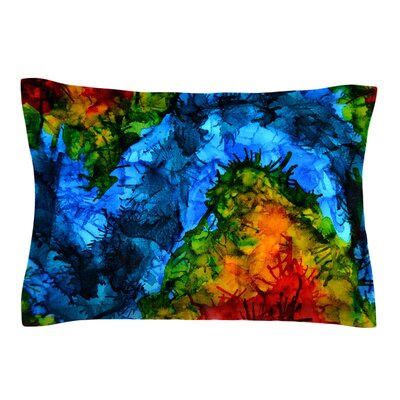 Flow by Claire Day Featherweight Pillow Sham Size: Queen, Fabric: Cotton