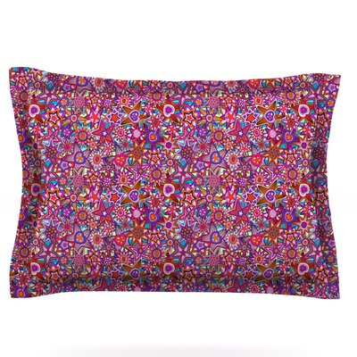 My Dreams in Color by Julia Grifol Featherweight Pillow Sham Size: King, Fabric: Cotton