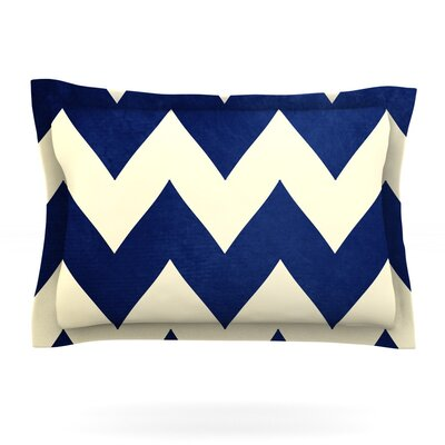 Fleet Week by Catherine McDonald Featherweight Pillow Sham Size: King, Fabric: Cotton