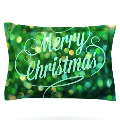 Merry Christmas by Robin Dickinson Featherweight Pillow Sham Size: Queen, Fabric: Cotton