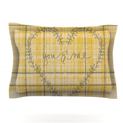 You & Me by Robin Dickinson Featherweight Pillow Sham Size: Queen, Fabric: Cotton