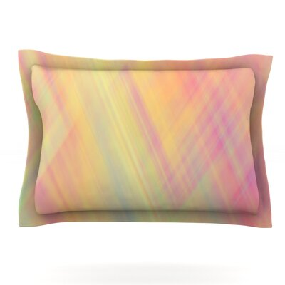 Pastel Abstract by Ingrid Beddoes Featherweight Pillow Sham Size: Queen, Fabric: Cotton