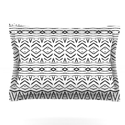 Tambourine by Pom Graphic Design Featherweight Pillow Sham Size: King, Fabric: Cotton