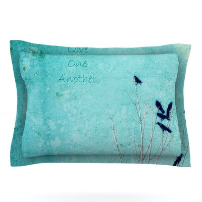 Love One Another by Robin Dickinson Featherweight Pillow Sham Size: Queen, Fabric: Cotton