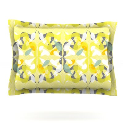 Spring Flourish by Miranda Mol Featherweight Pillow Sham Size: King, Fabric: Cotton