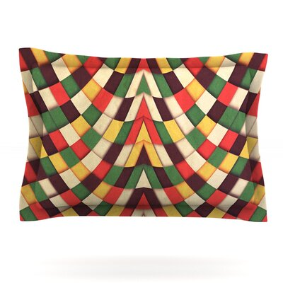 Rastafarian Tile by Danny Ivan Featherweight Pillow Sham Size: Queen, Fabric: Woven Polyester