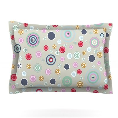 Circle Circle I by Suzanne Carter Featherweight Pillow Sham Size: Queen, Fabric: Cotton