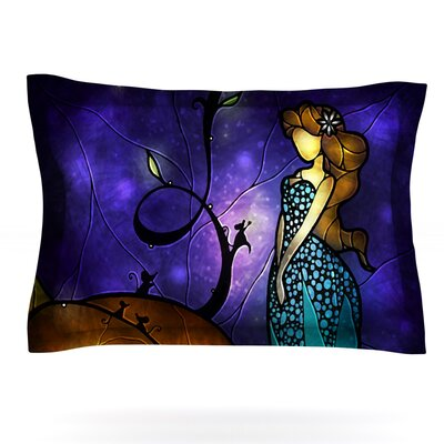 Cinderella by Mandie Manzano Featherweight Pillow Sham Size: King, Fabric: Cotton