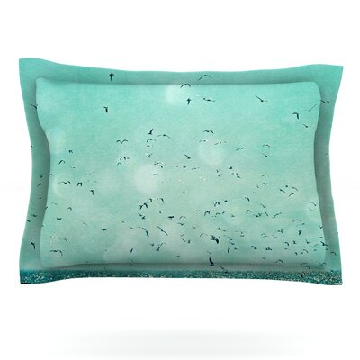 Down by the Sea by Robin Dickinson Featherweight Pillow Sham Size: King, Fabric: Cotton