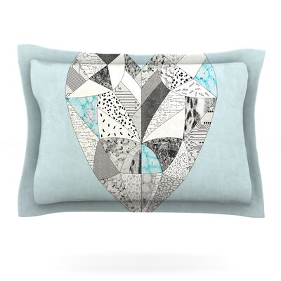 Comheartment by Vasare Nar Featherweight Pillow Sham Size: Queen, Fabric: Cotton