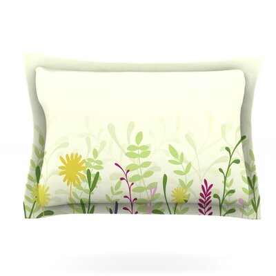 Springtime by Emma Frances Featherweight Pillow Sham Size: Queen, Fabric: Cotton