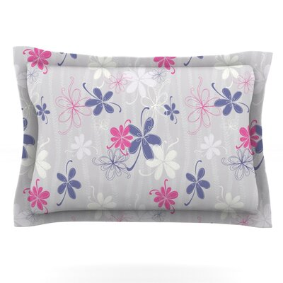 Lively Blossoms by Emma Frances Featherweight Pillow Sham Size: Queen, Fabric: Cotton