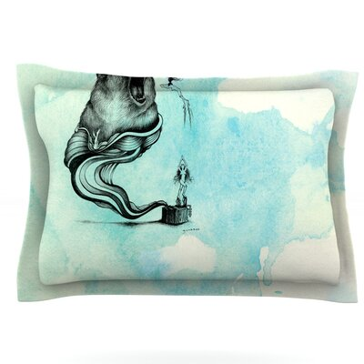Hot Tub Hunter III by Graham Curran Featherweight Pillow Sham Size: King, Fabric: Cotton