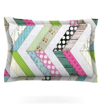 Fabric Much? by Heidi Jennings Featherweight Pillow Sham Size: Queen, Fabric: Cotton