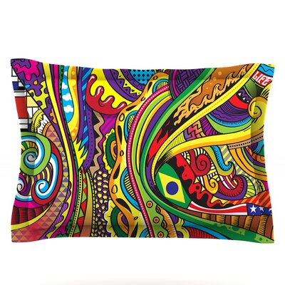Doodle by Roberlan Featherweight Pillow Sham Size: Queen, Fabric: Cotton
