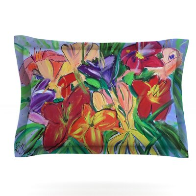 Matisse Styled Lillies by Cathy Rodgers Featherweight Pillow Sham Size: Queen, Fabric: Cotton