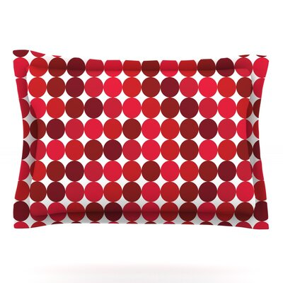 Noblefur Featherweight Pillow Sham Size: Queen, Color: Red, Fabric: Cotton