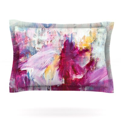 Iris Lehnhardt Woven Pillow Sham Size: Queen