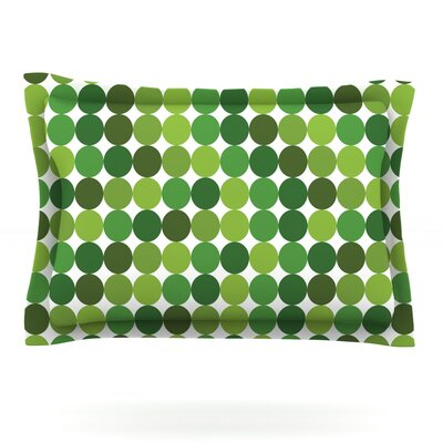 Noblefur Featherweight Pillow Sham Size: Queen, Color: Green, Fabric: Cotton