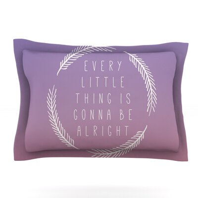 Little Thing by Galaxy Eyes Featherweight Pillow Sham Size: Queen, Fabric: Cotton