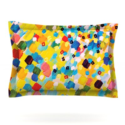 Swept Away by Ebi Emporium Featherweight Pillow Sham Size: King, Fabric: Cotton