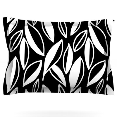 Leaving Black and White by Emine Ortega Featherweight Pillow Sham Size: King, Color: Magenta, Fabric: Woven Polyester