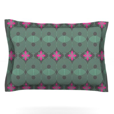 Deepti Munshaw Woven Pillow Sham Size: King, Color: Green/Pink