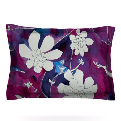 Succulent Dance III by Theresa Giolzetti Featherweight Pillow Sham Size: Queen, Fabric: Cotton