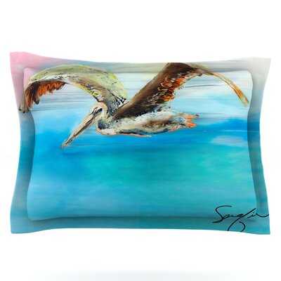 Coast by Josh Serafin Featherweight Pillow Sham Size: King, Fabric: Cotton