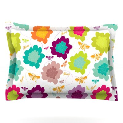 Bee Highway by Nicole Ketchum Featherweight Pillow Sham Size: King, Fabric: Cotton